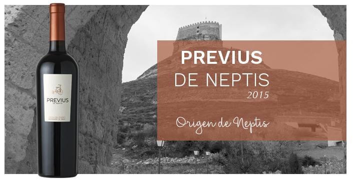 Botella Previus de Neptis junto al Arco de la Magdalena.