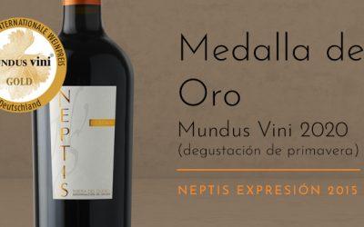· Neptis Expresión 2015, MEDALLA DE ORO en Mundus Vini 2020.