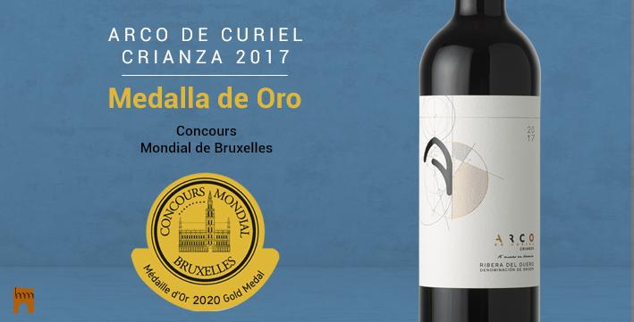 · Arco de Curiel Crianza 2017, MEDALLA DE ORO en el Concours Mondial de Bruxelles 2020